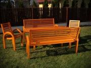 Zestaw ogrodowy 8 osobowy - meble drewniane